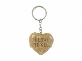 Sleutelhanger zand- I love Texel