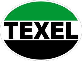 Groen-zwart Texel sticker