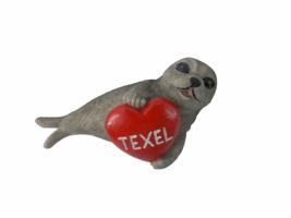 Koelkastmagneet zeehond/hart