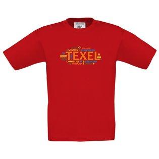 Tekst Texel rood