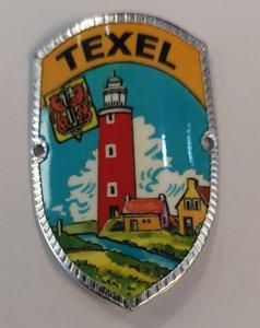 Wandelstok schildje Texel